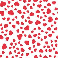 Nahtlose Muster Hintergrund. Abstraktes und modernes Konzept. Stilvolles Thema des geometrischen kreativen Designs. Abbildung Vektor. Rote und weiße Farbe. Herzform