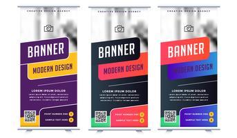 Rollen Sie oben Fahnendesign - Vektor