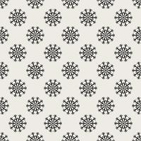 Sömlös mönster bakgrund. Abstrakt och klassiskt koncept. Geometrisk kreativ design snyggt tema. Illustration vektor. Svartvit färg. Snowflake is för juldagen