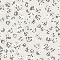 Nahtlose Muster Hintergrund. Abstraktes und klassisches Konzept. Stilvolles Thema des geometrischen kreativen Designs. Abbildung Vektor. Schwarzweiss-Farbe. Bärenpuppe Form