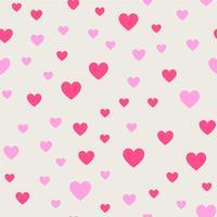 Nahtlose Muster Hintergrund. Abstraktes und modernes Konzept. Stilvolles Thema des geometrischen kreativen Designs. Abbildung Vektor. Rosa und rote Farbe. Herzform für Valentinstag- und Hochzeitsereignisse