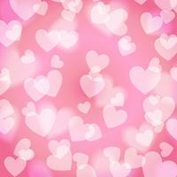 Rosa süßes Bokeh-Herz, Muster, Vektor