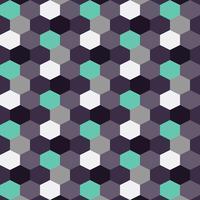 Blåbär bakgrundsmönster färg hexagon vektor