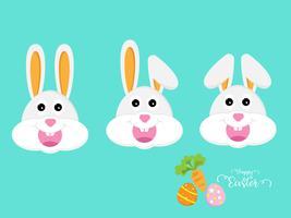 söt kanin eller kaninhuvud vektor