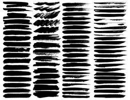 Großer Satz Pinselstriche, schwarze Tintenschmutz-Pinselstriche. Vektor-illustration vektor