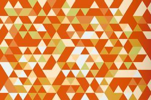 Orange Mosaikdreieckprisma-Vektorhintergrund, warmer Ton