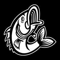 Bass Fish Vektor Icon springen