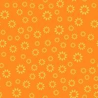 Nahtlose Muster Hintergrund. Modernes abstraktes und klassisches antikes Konzept. Stilvolles Thema des geometrischen kreativen Designs. Abbildung Vektor. Orange und gelbe Tonfarbe. Blumen- und Sonnenblumenform
