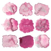 Rosa abstrakt akvarell bakgrund. Akvarell element för kort. Vektor illustration.