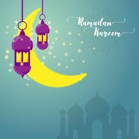 ramadan kareem hälsningskort vektor