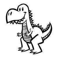 Dinosaurier-Tyrannosaurus Rex, T-Rex-Cartoon vektor