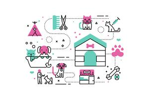 Tierheim Illustrationen