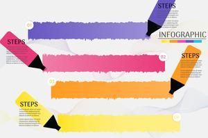 Entwerfen Sie infographic Diagrammelement der Schritte der Geschäftsschablone 4 mit Platzdatum für Darstellungen, Vektor EPS10.