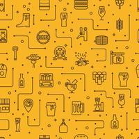 Bier Icons Hintergrund vektor