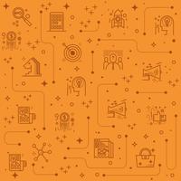 Marketing Linie Icons Hintergrund vektor