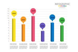 Design Företagsmall 6 steg infografiskt diagramelement med platsdatum för presentationer, Vector EPS10.