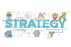 Strategiewortbeschriftung vektor