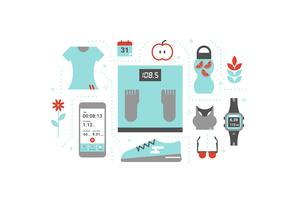 Fitness koncept illustration