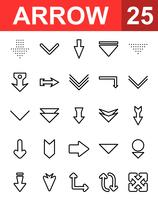 25 Pfeilsymbol vektor