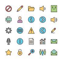 25 Grundlegendes Benutzeroberflächensymbol vektor