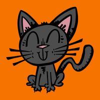Halloween schwarze Katze vektor