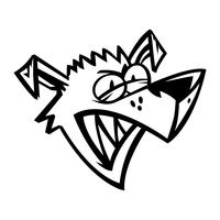 Verärgerte Hundekarikatur-Vektorillustration