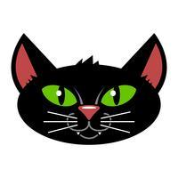 Halloween svart katt
