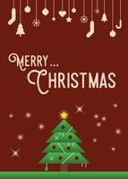 Jul hälsningskort vektor