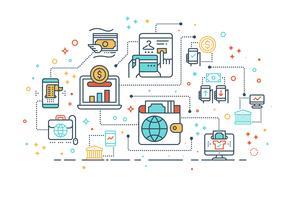 Digital-Geldmappenkonzept