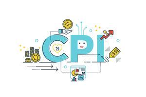 VPI: Wort des Verbraucherpreisindex vektor