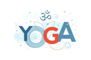 Yoga-Wort-Typografie vektor