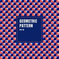 Abstrakter blauer, roter, weißer geometrischer Kreismusterhintergrund mit Kopienraum.