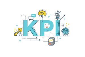 KPI: Key Performance Indicator-Wort vektor