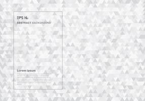 Abstrakta vita geometriska hipster trianglar mönster bakgrund och textur. vektor