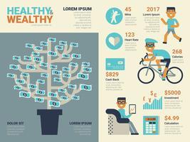 Hälsosam och riklig vektor