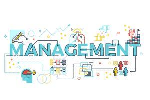 Management-Wort-Schriftzug