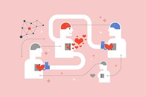 Dela kärlek till människor vektor