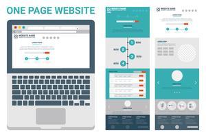 einseitiges Website-Thema vektor