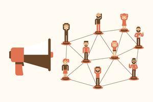 Marknadsföring till folk illustration
