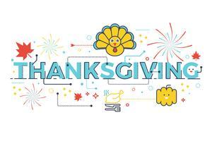 Thanksgiving semesterkoncept vektor
