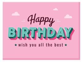 Alles Gute zum Geburtstag Typografie Design