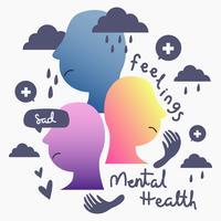 Psychische Gesundheit Konzept Vektor