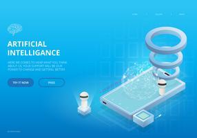 Artificiell intelligens UI Landing Page Theme