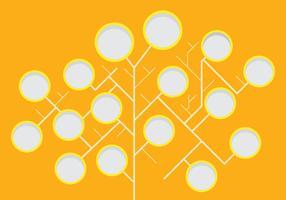 Stammbaum Vorlage modern und stilvoll vektor