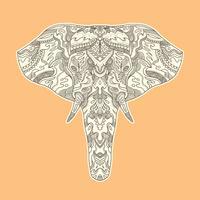 Gemalte Elefantillustration.