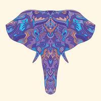 Målad elefantillustration.