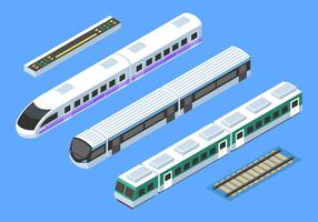 Isometrische Zug Clip Art Vektor