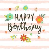 Niedliche alles- Gute zum Geburtstagtypographie vektor