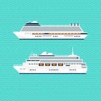 platt skeppsamling vektor