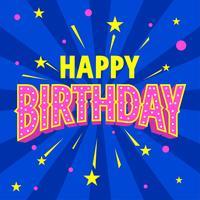 Alles Gute zum Geburtstag Typografie Retro-Stil